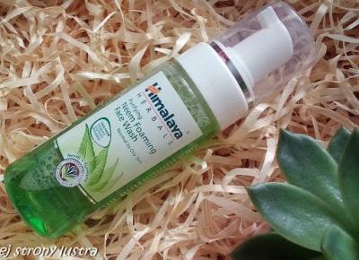 Himalaya Oczyszczająca pianka do mycia twarzy z neem | Z mojej strony lustra - blog kosmetyczny