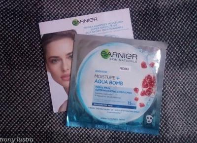 Maska - kompres Garnier Moisture+ Aqua Bomb | Z mojej strony lustra - blog kosmetyczny