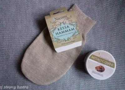 Czarne mydło i rękawica kessa Nacomi | Z mojej strony lustra - blog kosmetyczny