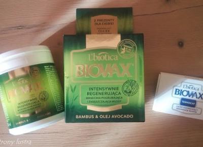 L'biotica Biovax: Intensywnie regenerująca maseczka pogrubiająca i zagęszczająca włosy bambus&olej; avocado | Z mojej strony lustra - blog kosmetyczny