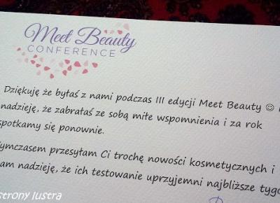 Z mojej strony lustra: Upominki z Meet Beauty III - część II