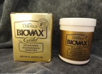 Z mojej strony lustra: Maseczka do włosów Biovax Gold