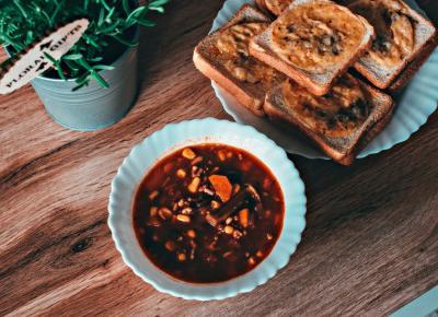 Zupa meksykańska z mięsem - Związek na patelni