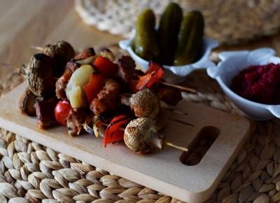 Szaszłyki z marynatą na ostro  - Związek na patelni