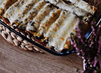 Cannelloni nadziewane szpinakiem i szynką - Związek na patelni