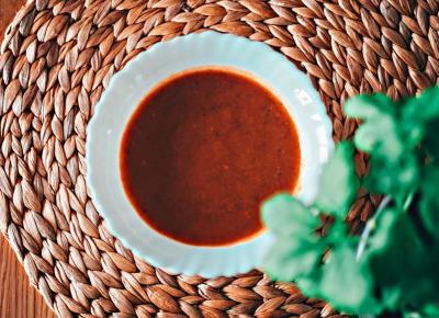 Zupa (na winie) paprykowo-brukselkowa  - Związek na patelni