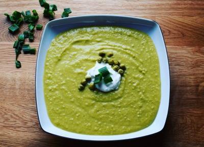 Zupa krem z zielonego groszku - Związek na patelni