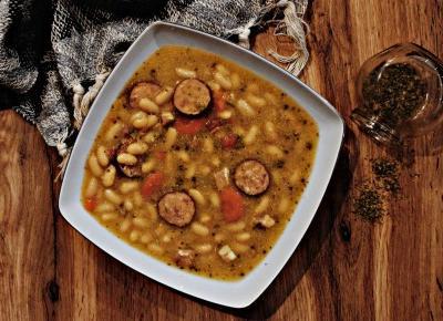 Zupa fasolowa - Związek na patelni