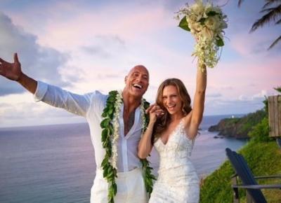 Dwayne The Rock Johnson wziął sekretny ślub z Lauren Hashian! Pokazał cudowne zdjęcia! 😍👰🏽🤵🏽