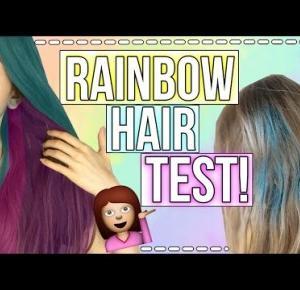 RAINBOW HAIR TEST!