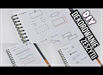 DIY Dekorowanie zeszytów | BACK TO SCHOOL 2017