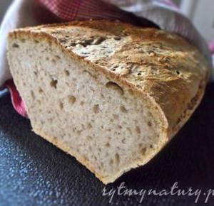 Domowy chleb pszenny na zakwasie żytnim - Rytmy Natury