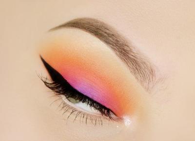 ZACHÓD SŁOŃCA, MAKIJAŻ NA ROZPOCZĘCIE WAKACJI | #TUTORIAL | Agata Welpa MakeUp Blog Beauty- najbardziej kolorowy blog o makijażu.