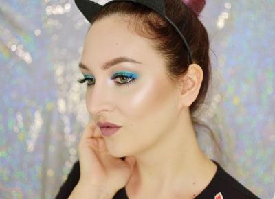 ZIELONO- NIEBIESKI MAKIJAŻ DZIENNY | #TUTORIAL ð| Agata Welpa MakeUp blog o makijażu blog beauty