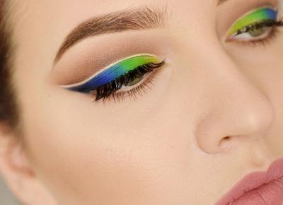 SOCZYSTE ZIELENIE I NIEBIESKOŚCI NA WIOSNĘ | #TUTORIAL | Agata Welpa MakeUp Blog Beauty- najbardziej kolorowy blog o makijażu.