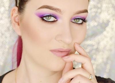 FIOLETOWO-BŁĘKITNY MAKIJAŻ NA LATO | #TUTORIAL | Agata Welpa MakeUp Blog Beauty- najbardziej kolorowy blog o makijażu.
