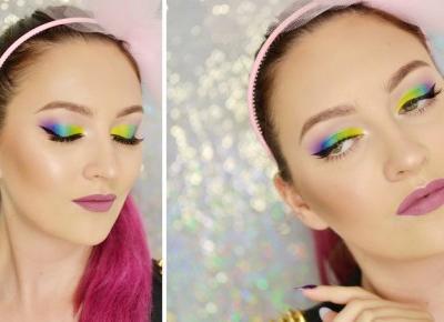 KOLOROWY MAKIJAŻ WIECZOROWY | #TUTORIAL | Agata Welpa MakeUp blog beauty