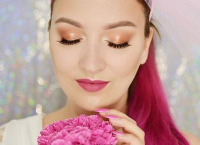 MAKIJAŻ ŚLUBNY CIENIAMI MAKEUP GEEK | #TUTORIAL | Agata Welpa MakeUp blog beauty