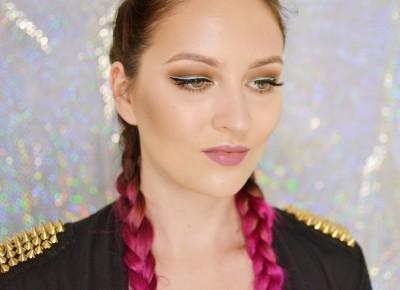DELIKATNY MAKIJAŻ WIECZOROWY Z BŁĘKITNYM AKCENTEM | #TUTORIAL | Agata Welpa MakeUp blog beauty
