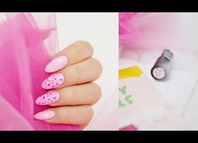 Różowe PAZNOKCIE W KROPECZKI NeoNail | Pink nails with dots