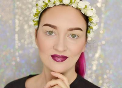ROZŚWIETLONA CERA I BROKATOWE USTA Z EFEKTEM OMBRE | #TUTORIAL | Agata Welpa MakeUp Blog Beauty- najbardziej kolorowy blog o makijażu.