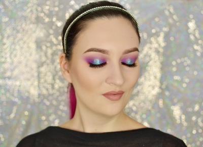 WIOSENNY KOLOROWY MAKIJAŻ Z PŁATKAMI NEONAIL ELECTRIC EFFECT | #TUTORIAL | Agata Welpa MakeUp Blog Beauty- najbardziej kolorowy blog o makijażu.