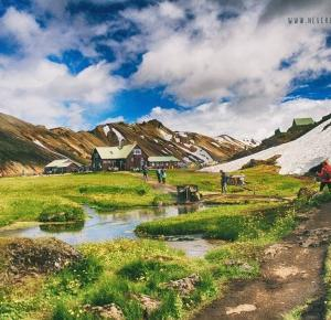 Islandia dzień 5 (cz. 2)- kąpiel w tęczowych górach Landmannalaugar - Never Ending Travel