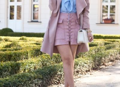 Sznurowana Spódnica Zamszowa Trend bieliźniarski  - Feather - Mój Sposób Na Modę