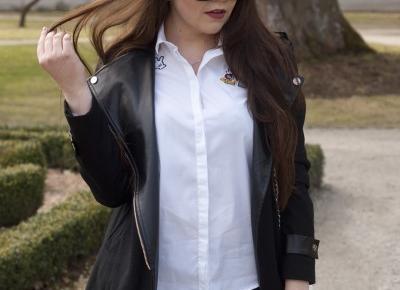 Koszula i czarne spodnie Black & White / Perfumy, które sprawdzą się w biurze i pracy.  - Feather - Mój Sposób Na Modę