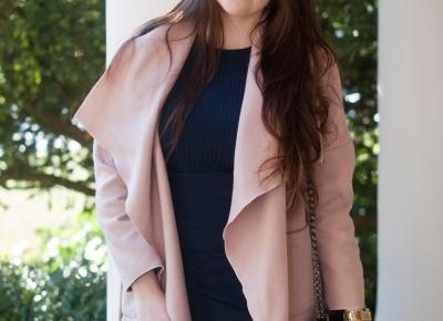 Seksowna Dopasowana Granatowa Sukienka /  Sexy Slim Fit Pleated Bodycon Dress - Feather - Mój Sposób Na Modę