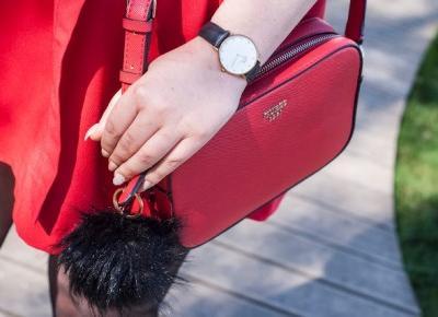 Czerwona sukienka  - Feather - Mój Sposób Na Modę
