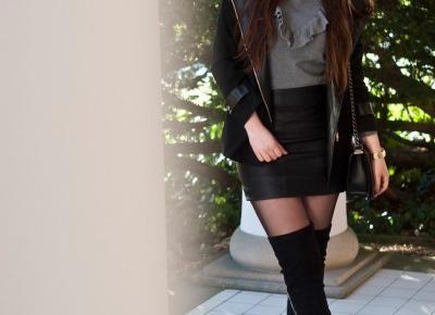 Walentynkowa Stylizacja Z Lekkim Pazurem / Valentine's Day Black Zipper Coat - Feather - Mój Sposób Na Modę