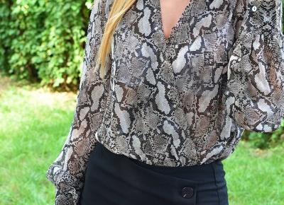Agii Style: Bluzka w wężowy wzór