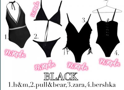 przegląd strojów kąpielowych ZARA,H&M,BERSHKA... + inspiracje - Ananas Lover