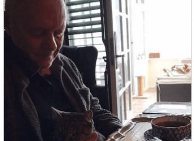 Oni mają kota: Anthony Hopkins i Niblo - KOCIA KOŁYSKA - Wszystko o kotach