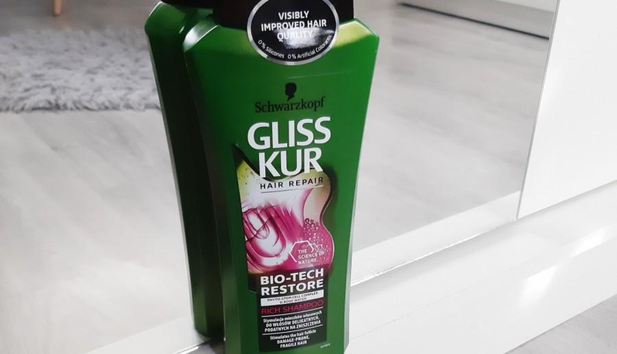 Schwarzkopf - Gliss Kur, Bio-Tech Restore, Szampon do włosów, Stymulacja mieszków włosowych, Włosy delikatne.