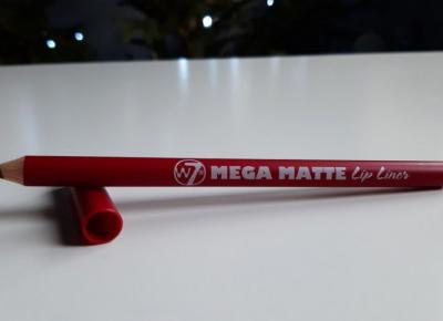 W7 - Mega Matte Lip Liner, Konturówka Do Ust, Matowa, Czerwona.
