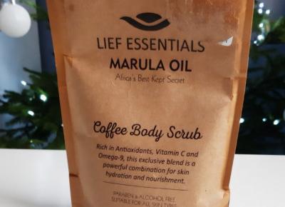 Lief Essentials - Coffee Body Scrub, Peeling do ciała, Kawowy, Marula Oil, Africa's Best Kept Secret.
