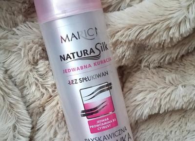 Marion - Natura Silk – Jedwabna Kuracja. Błyskawiczna odżywka rozświetlająca włosy.