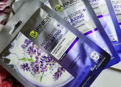 Garnier - Skin Naturals, Maska do twarzy w płacie, Moisture + Relaxing.