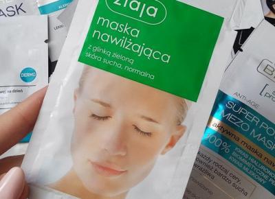Ziaja - Maska nawilżająca z glinką zieloną do skóry suchej i normalnej.