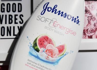Johnson`s - Żel pod prysznic, Soft & Energise, Arbuz i róża.