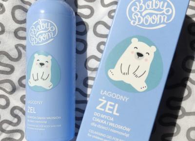BabyBoom - Żel do mycia ciałka i włosków, Łagodny, Dla dzieci i niemowląt od 1 dni życia.