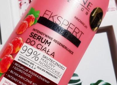 Eveline - Ekspert Regeneracji, Serum do ciała, Intensywnie regenerujące, Malina nordycka, Skóra bardzo sucha, podrażniona i wrażliwa.
