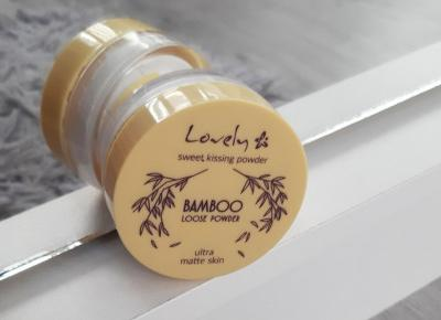 Lovely - Puder do twarzy, Bambusowy, Bamboo Loose Powder.