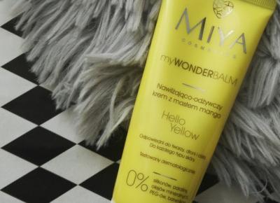Miya Cosmetics-myWONDERbalm, Hello Yellow nawilżająco-odżywczy krem z masłem mango.