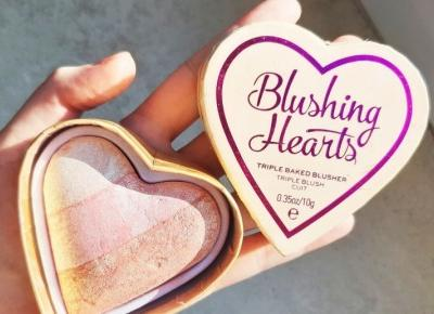 Makeup Revolution - Róż do policzków, Blushing Hearts.