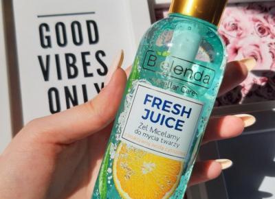 Bielenda - Fresh Juice, Żel micelarny do twarzy, Nawilżający, Sok z pomarańczy.