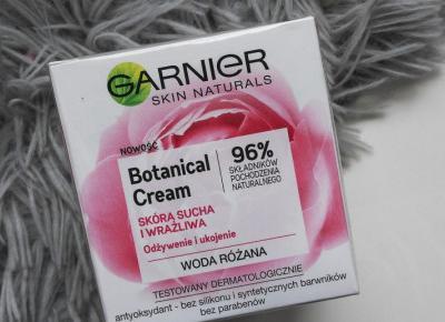 Garnier - Skin Naturals, Botanical Cream, Skóra sucha i wrażliwa, Woda różana.