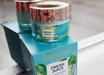 Bielenda - Fresh Juice, Krem booster, Detoksykujący, Z bioaktywną wodą cytrusową.